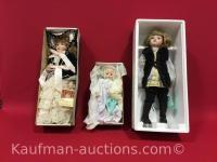 3 Dynasty Doll Porcelain Dolls
