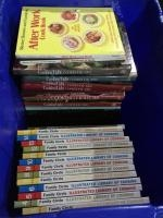 2 totes of cookbooks-Family Circle, Southern Living Annual Recipes, Cooking Light, vintage cookbooks...