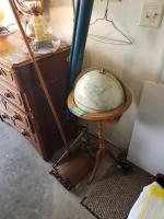 Approx 3' tall globe w stand, Radiant Deluxe Champion projection screen and Bissell Crown Jewel wo...