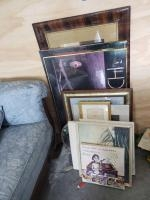 Quantity of artwork and frames Large sofa print of fruit (still art) is 42