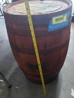 """Wooden syrup barrel Measures approx. 21"""" tall"""