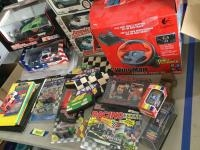 Die cast cars,WingMan Formula Force GP racing wheel and pedals