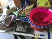 Turbo cooker, wire racks, graters, wall pockets, ekco bamboo steamer and more