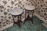 (2) Stone top night stands