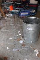 Tomato cages and (2) trash cans