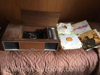 Solid state stereo & Record Player w/ misc Vinyl Records