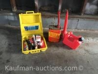 Plastic & metal gas cans & Auto emergency kit