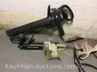 Craftsman blower-Vac, craftsman electric chainsaw & hedge trimmer