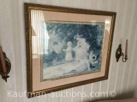 2 vintage framed photos/ see pictures