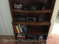 Misc radios on shelf & books / shelf not included
