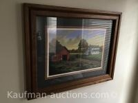 Mahlon Troyer Framed painting/ numbered 12/ 1120