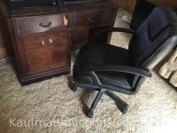 Knee hole desk & Office Chair & uph rocking chair