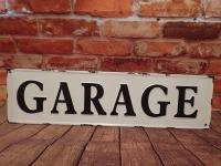 GARAGE 8 IN X 30 IN METAL WALL ART