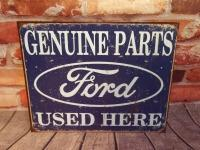 FORD PARTS 12 IN X 16 IN METAL WALL ART