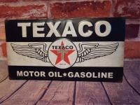 TEXACO MOTOR OIL 9 IN X 16 IN METAL WALL ART