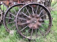 Farmall F12-F14 steel wheels. 2.5 inch axle