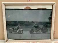 Framed Motorycle Print