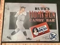 Babe Ruth Home Run Candy Bar Advertising Tin