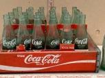 Wood Coca-Cola Crate and Bottles