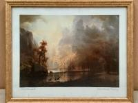 Framed Landscape Art Print - Sierra Nevada Morning - Albert Bierstadt