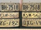 6 Embossed 1973 Texas License Plates