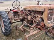 Farmall 130 high clear with mounted cultivator