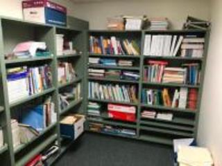 Shelving Units in Room