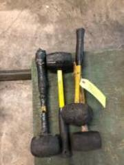 4 Rubber Hammers