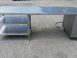 Stainless Steel Prep Counter   Welded Frame