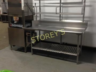 10006  All S S Dishwasher Table with Over Shelf