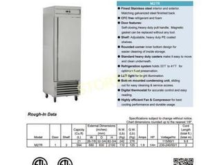 K27R 1 S S Reach In Refrigerator