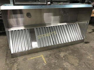 New Stainless Steel Exhaust Canopy with Curb