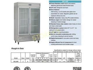 KG 48R 2 S S Reach In Refrigerator