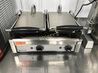 Pannini Grill Double - Flat Top Bottom - Eurodib -