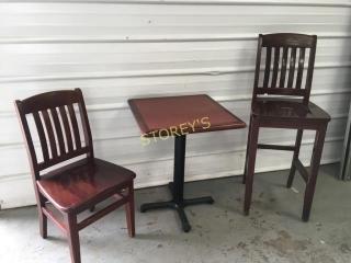 Heavy Cherry Wood Dinning Chairs     65