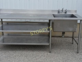 Stainless Steel Counter with Sink   Welded Frame