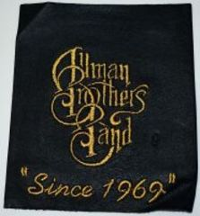 LEATHER ALLMAN BROTHERS BAND EMBROIDERED PATCH 4.5X5 - DONATED BY MICHAEL BUFFALO SMITH