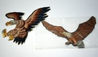 2 AMERICAN EAGLE LARGE EMBROIDERED PATCHES EACH 10 INCHES - DONOR WISHES TO REMAIN ANNONYMOUS