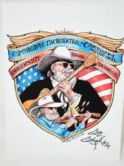 RARE GUY GILCHRIST HAND SIGNED CHARLIE DANIELS 8.5X11 ART PANEL VERY LIMITED NUMBER MADE ONLY FOR PATRONS AT THE EVENT - DONATED BY THE FAMOUS GUY GILCHRIST
