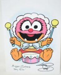 GUY GILCHRIST HAND SIGNED BABY ANIMAL 8.5 X 11 ART PANEL - DONATED BY THE FAMOUS GUY GILCHRIST