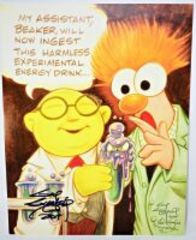 GUY GILCHRIST HAND SIGNED DR. BUNSEN AND BEAKER 8.5 X 11 ART PANEL - DONATED BY THE FAMOUS GUY GILCHRIST