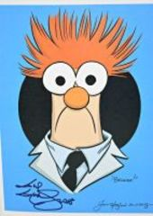 GUY GILCHRIST HAND SIGNED BEAKER 8.5 X 11 ART PANEL - DONATED BY THE FAMOUS GUY GILCHRIST