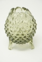 FENTON ART GLASS HOBNAIL FOOTED VASE