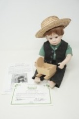 DANBURY MINT BISQUE PORCELAIN DOLL, SAMUEL