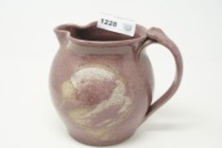 SIGNED POTTERY PITCHER, BRAD WALKER