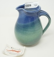 SIGNED POTTERY PITCHER, JEANNE PETERSON