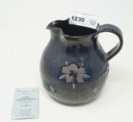 SIGNED POTTERY PITCHER, MOUNTAIN TOP POTTERY, CHERYL C. MASON