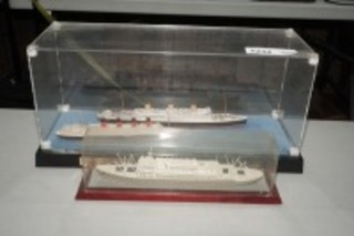 SHIP MODELS IN DISPLAY CASES, SANTA PAULA, MAURITANIA, AND MORE