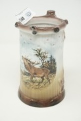 GEROLD-PORZELLAN DEER STEIN, MADE IN WEST GERMANY