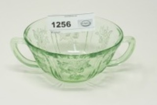DEPRESSION GLASS SUGAR BOWL